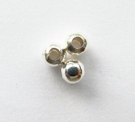 Kraal metaal Silver Plated 5mm (10st.)