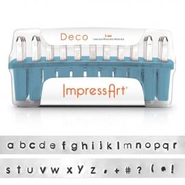 Lowercase Deco Letter Set 3mm ImpressArt