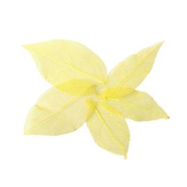 Gele blaadjes voor verwerking in giethars