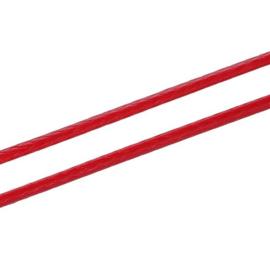 Koreaans Polyester Waxkoord Rood 0,5mm