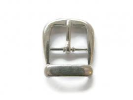 Gesp voor 15mm leer zilverkleur