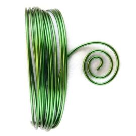 AluDeco Wire 2mm Dark Green Round (5m)