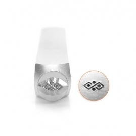 Diamond Pattern Border Design Stempel 6mm ImpressArt