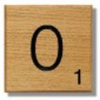 Houten Scrabble Letter O