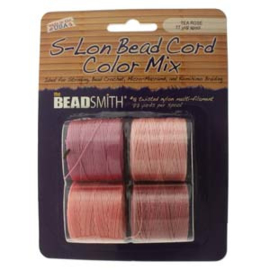 S-LON BEAD CORD  4-PACK MIX TEA ROSE