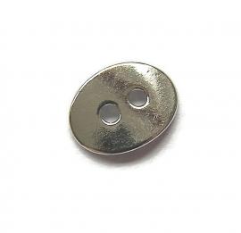 Knoop metaal ovaal zilverkleur