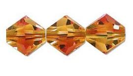 Swarovski kralen Bicone 4mm Fire Opal (10st.)