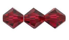 Swarovski kralen Bicone 4mm Ruby (10st.)