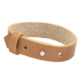Cuoio Armband Leer 15mm Cognac Brown