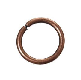 Jump ring Koper 10mm