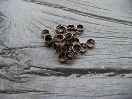 Split ring koper kleur 5mm