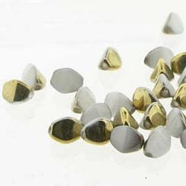 Pinch Bead White Amber per streng