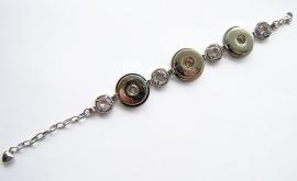 Chunk Armband zilverkleur met strass