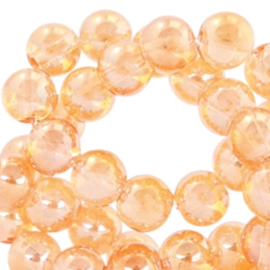 Glaskraal Topaz Gold Transparant Pearl Shine 4mm (per streng)