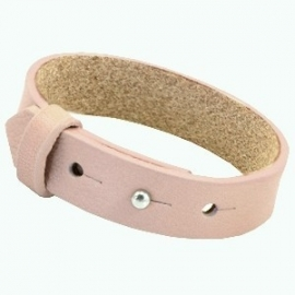 Cuoio Armband Leer 15mm Soft Rose Quartz