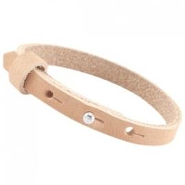 Cuoio Armband Nubuck Leer 8mm Sandstone Brown