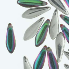 Dagger Bead  Backlit Spectrum  5x16mm (25st)