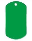 Dogtag Green aluminium