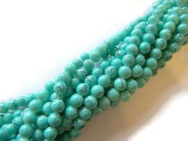 Hele streng Glaskralen gemeleerd Turquoise Groen 8mm