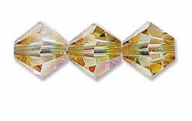 Swarovski kralen Bicone 4mm Crystal Verde (10st.)
