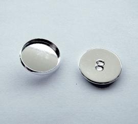 Cabochon knoop setting met oogje voor 20mm cabochon