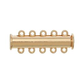 Magnetisch Schuifslot 5 rijen Gold Plated