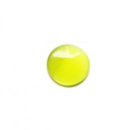 Cat Eye Cabochon Olijf Groen/geel 12mm Rond