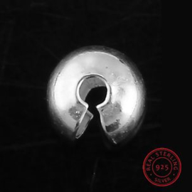 15 stuks Knijpkraal verberger 3mm 925 sterling zilver
