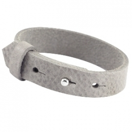 Cuoio Armband Leer 15mm Natural Grey
