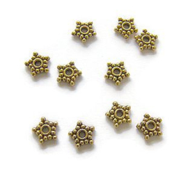 Spacer metal Starflower 8.5mm Antique Gold