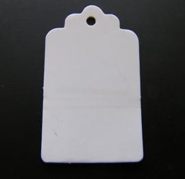 Craft Papieren Kaartje Wit (10st)