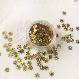 Potje met glittervlokjes Goud
