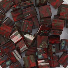 TL5-4521 Miyuki TILA Opaque Picasso Red 5x5mm