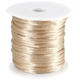 Satijn koord Silk Goud 1mm dik