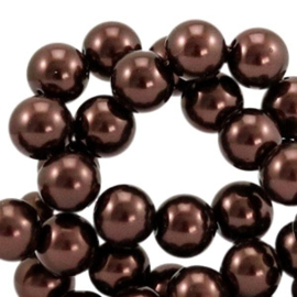 Glasparel Dark Brown 10mm (Per streng)