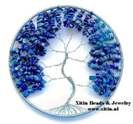 Workshop levensboom raamhanger met edelsteensplit