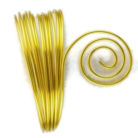 AluDeco Wire 2mm Sunny Yellow Round (5m)