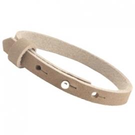 Cuoio Armband Nubuck Leer 8mm Sand Beige