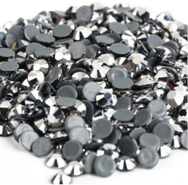 Rhinestone Flatback  SS12 Silver Hematite 3mm