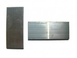 Plaatje rechthoek aluminium 70x30x2mm
