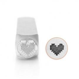 Design Stempel Patchwork Heart 6mm ImpressArt