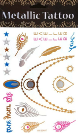Metallic Tattoo's  WX004-WT