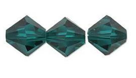 Swarovski kralen Bicone 4mm Emerald (10st.)
