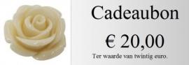 Cadeaubon 20,00 euro