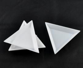 Kralen bakjes driehoek set 5 stuks