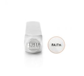 "Design stempel ""Faith""  6mm ImpressArt"