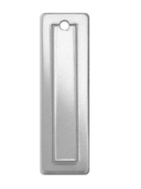 BORDER Tag rectangle aluminium 11,5x46mm