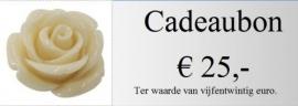 Cadeaubon 25,00 euro