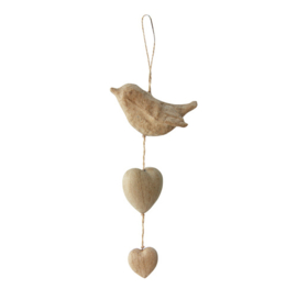 AC381 Vogel en hartjes om op te hangen