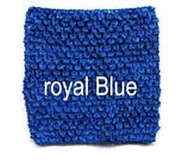 Gehaakte Top Royal Blue S  (maat 50 t/m 80)